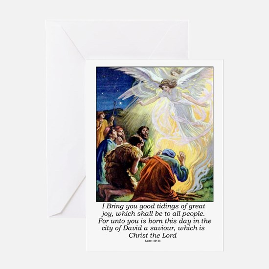 Angel Tidings of Great Joy Greeting Card