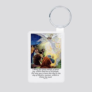 Angel Tidings of Great Joy Aluminum Photo Keychain