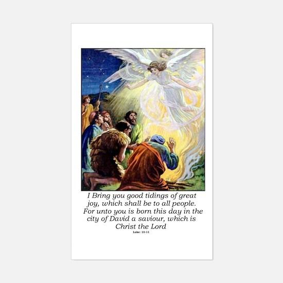 Angel Tidings of Great Joy Sticker (Rectangle)