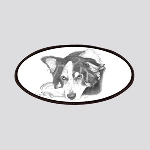 Collie Dog Sketch Patch