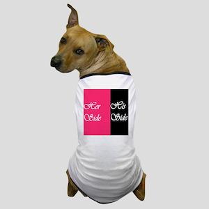 Her Side: His Side Pink/blk Dog T-Shirt
