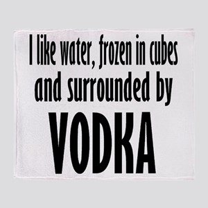 vodka humor Throw Blanket