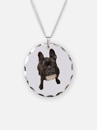 Cute French bulldog Necklace Circle Charm