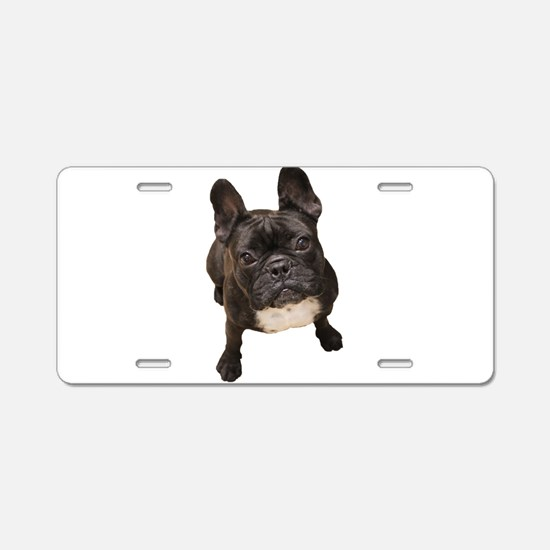 Funny French bulldog Aluminum License Plate