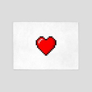 Pixel Love 5'x7'Area Rug