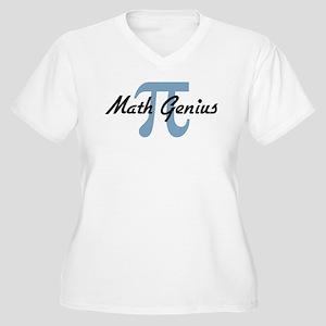 Math Genius Women's Plus Size V-Neck T-Shirt