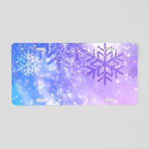 FROZEN SNOWFLAKES Aluminum License Plate