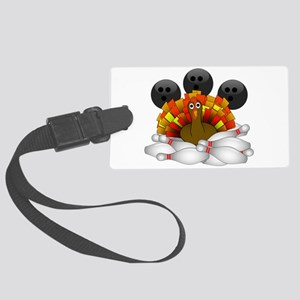 Bowling Strike! Bowling Turkey Large Luggage Tag