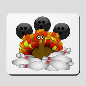 Bowling Strike! Bowling Turkey Mousepad
