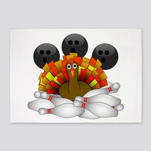 Bowling Strike! Bowling Turkey 5'x7'Area Rug