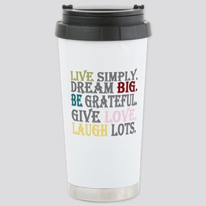 live simply Stainless Steel Travel Mug