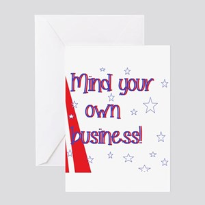 Mind your own business greeting cards cafepress mind your own greeting cards m4hsunfo