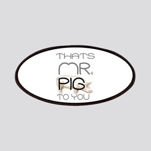 Mr Pig Cop Humor Patch