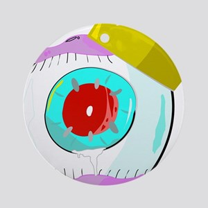 King Red Eye Ball Round Ornament