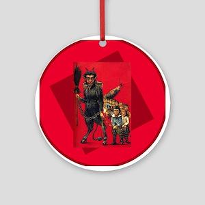 Krampus in Crimson Ornament (Round)
