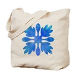 Ginger Hawaiian Quilt Blue Watercolor Tote Bag