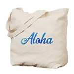 Aloha Blue Green Watercolor Tote Bag