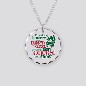 Surprised Clark Necklace Circle Charm