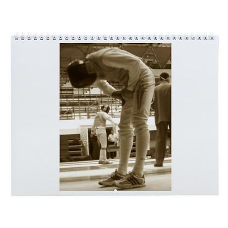 Sepia Fencing Wall Calendar