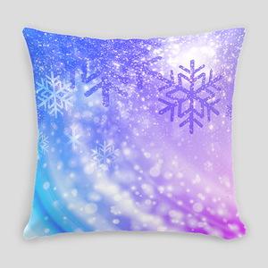 FROZEN SNOWFLAKES Everyday Pillow