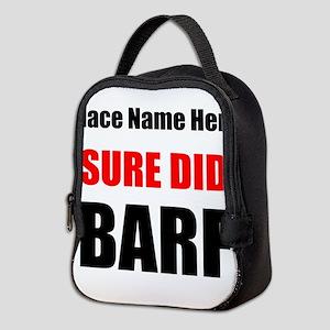 Sure Did Barf Neoprene Lunch Bag