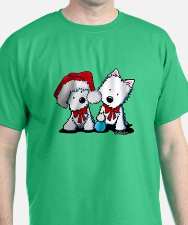 KiniArt Christmas Westies T-Shirt