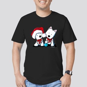 KiniArt Christmas West Men's Fitted T-Shirt (dark)