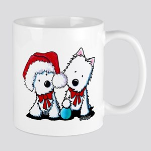 KiniArt Christmas Westies Mug