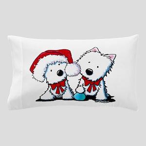 KiniArt Christmas Westies Pillow Case