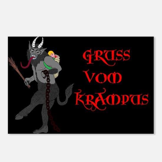 Gruss Vom Krampus Postcards (package Of 8)