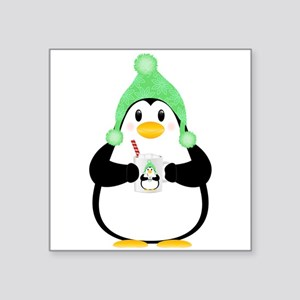 Penguin with Hot Cocoa Sticker