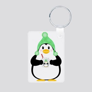 Penguin with Hot Cocoa Keychains