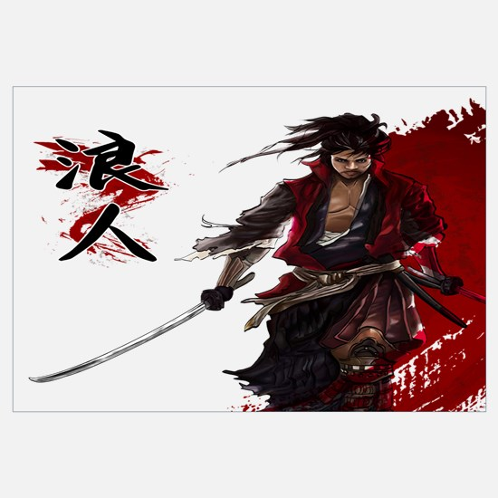 Funny Samurai Wall Art
