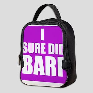 I Sure Did Barf Neoprene Lunch Bag