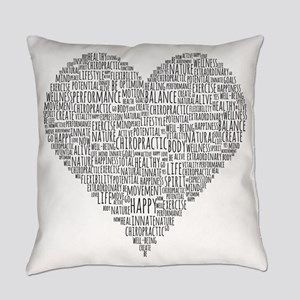 Chiropractic Heart-Shaped Word Everyday Pillow
