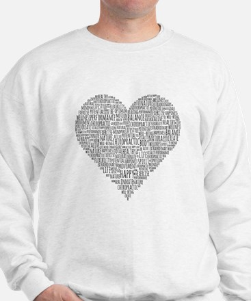 Chiropractic Heart-Shaped Word Collage Sweater