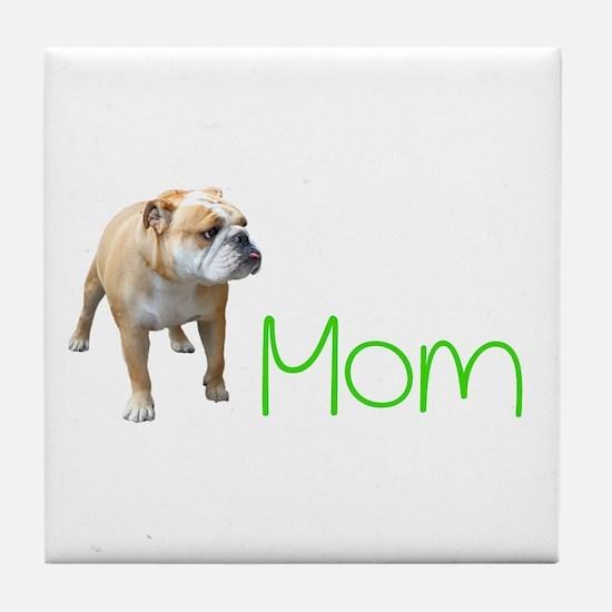 Unique American mom Tile Coaster