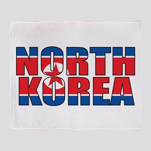 North Korea Throw Blanket