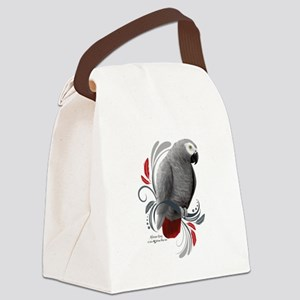 African Grey Canvas Lunch Bag