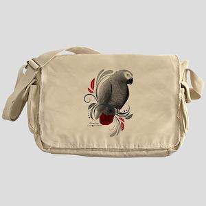 African Grey Messenger Bag