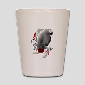 African Grey Shot Glass