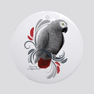 African Grey Round Ornament
