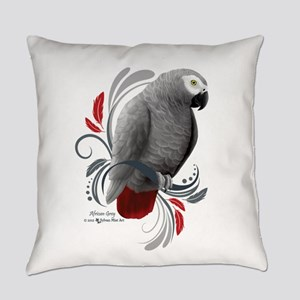 African Grey Everyday Pillow
