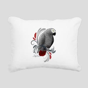 African Grey Rectangular Canvas Pillow