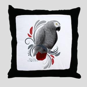 African Grey Throw Pillow