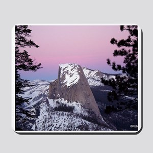 Half Dome during the winter, at sunset, Mousepad