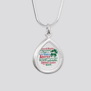 Griswold Blessing Silver Teardrop Necklace