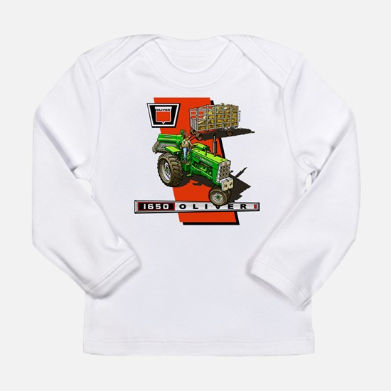 Cute Oliver tractor Long Sleeve Infant T-Shirt