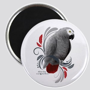 African Grey Magnets