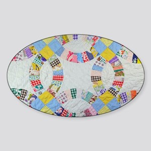 Colorful patchwork quilt Sticker